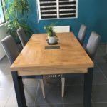 Relooking de mobilier sur St Nazaire, table style industriel
