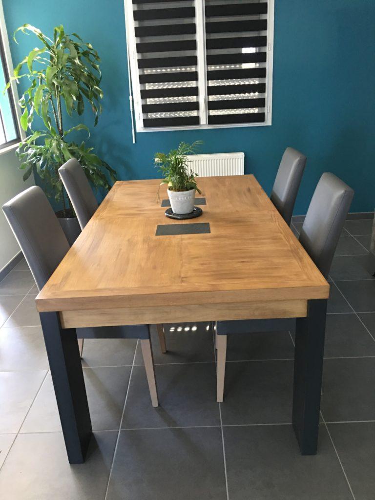 table relookée karine meteyer décoratrice d'intérieur st nazaire