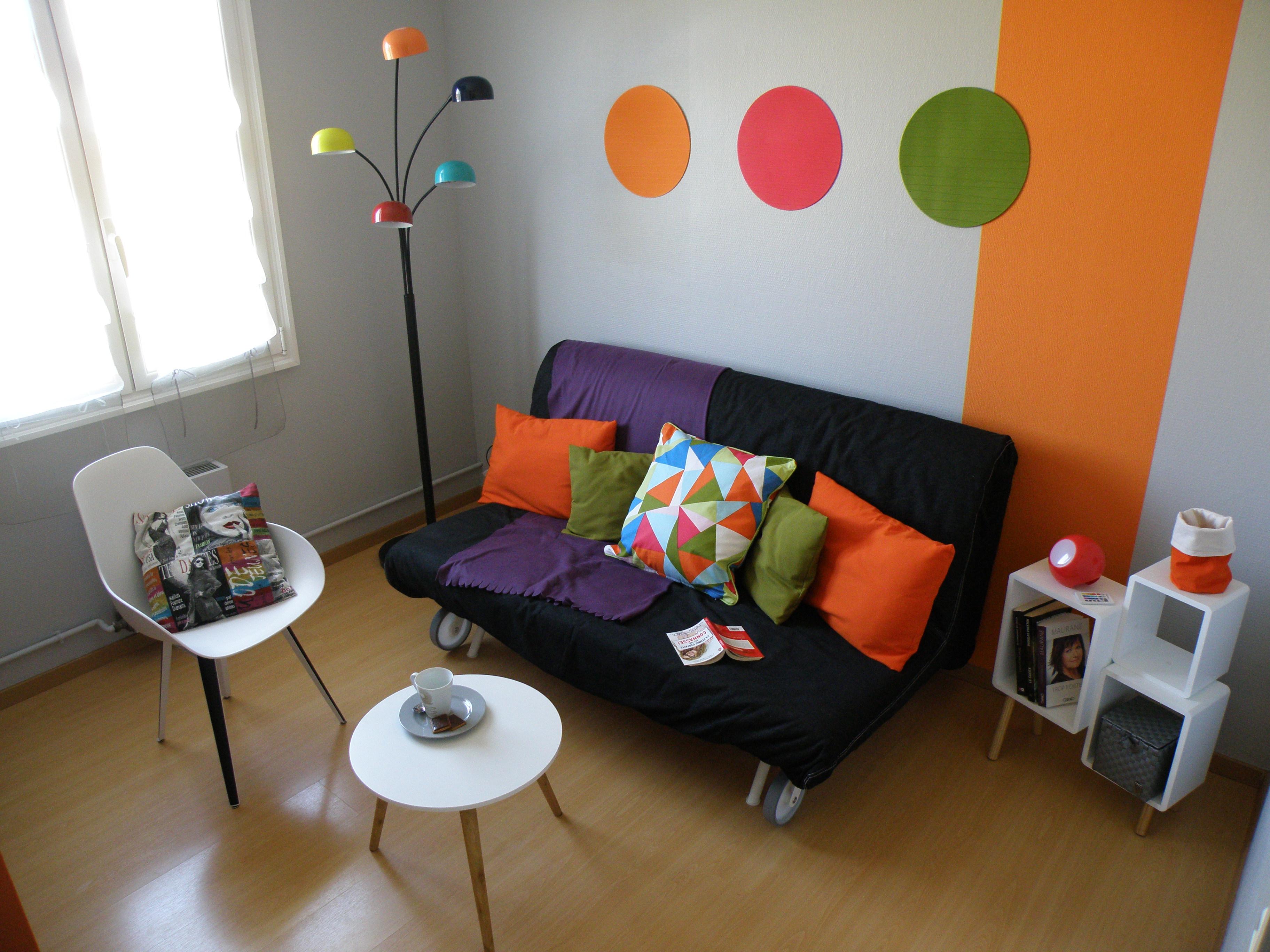 relooking chambre colorée karine décoration