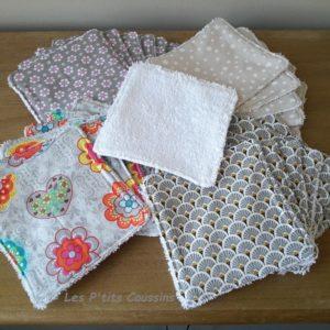Lingettes lavables coton bio