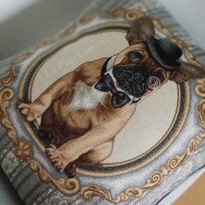 Coussin motifs Bulldog français