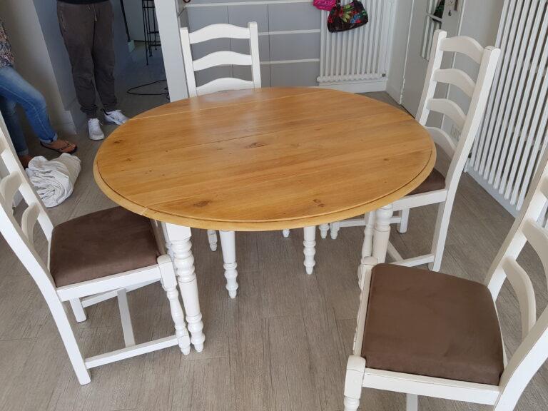 table et chaise après relooking karine décoration