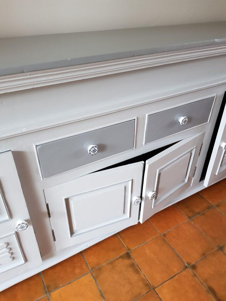 meuble relooké en gris karine décoration